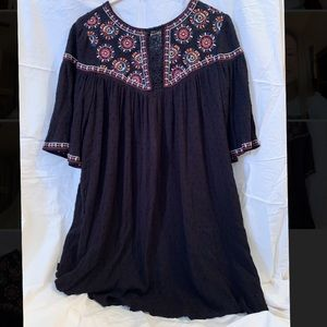 Francescas embroidered black dress